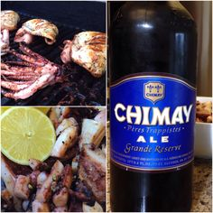 #lunch #chimay #trappistes #ale #grilledfood
