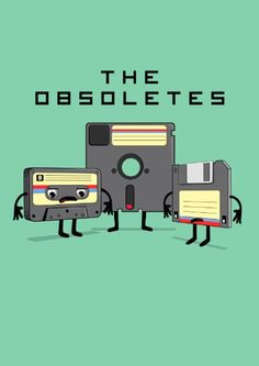 The Obsoletes (Retro Floppy Disk Cassette Tape)  Canvas Print