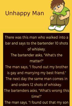 Unhappy Man Couple Jokes & Funny Story