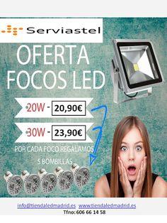 Telecomunicaciones y seguridad: FOCOS LED CON BOMBILLAS DE REGALO