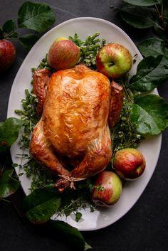 Apple Cider Roast Chicken Recipe | eHow Chicken With Olives, Raw Chicken, Roasted Chicken, Olive Oil Image, Roast Chicken Recipes, Fall Baking, Roasting Pan, Apple Cider, Easy Meals