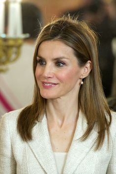 Princess Letizia of Spain attends the Spain's National Armed Forces Day reception at the Royal Palace on June 8, 2014 in Madrid, Spain.