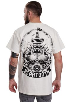 Beartooth Battleship Natural T-Shirt (back)