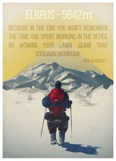 "Elbrus - Lowpoly study by Orsi ""enno"" Nagy, via Behance"