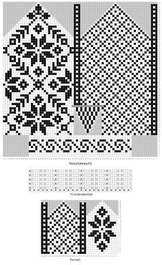 This would make a great patchwork quilt pattern. Crochet Mittens Free Pattern, Knit Mittens, Crochet Chart, Knitted Gloves, Knitting Charts, Knitting Stitches, Hand Knitting, Knitting Patterns, Patchwork Quilt Patterns