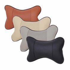 4 Farben Feinen Verarbeitung Auto Leder Loch-graben Kopfstütze Liefert Neck Auto Sicherheit Auto Sitzbezüge Kopfstütze