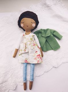 Brown Haired Blossom Doll with Green Jacket