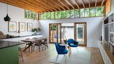 Clerestories bring light into renovated Texas bungalow
