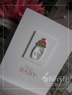 Baby Card - quilling