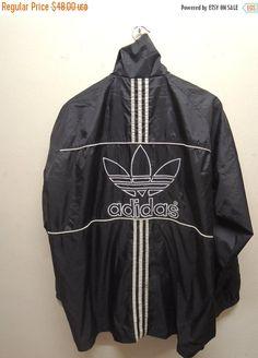 25% SALES ALERT Vintage 90's Adidas Windbreaker Fully Zipper Sweater Hoodies Bomber Jacket Sweatshirt Size L