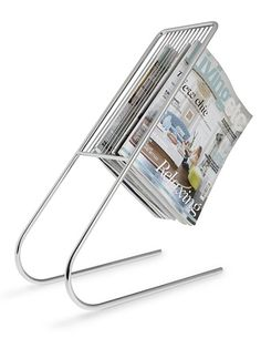 Keep This Old House and your other monthly favorites within reach. This rack's modern design lets you read the spines for easy issue selection and gives pages room to air out after steamy soaks and showers. J-Me Float Magazine Rack, about $85; Amazon