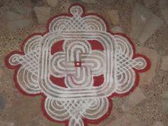 Kolam rangoli alpana design