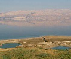 Sinkholes and springs near Jordan River Jordan