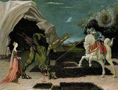 San Jorge y el dragón (Paolo Uccello, h. 1456)