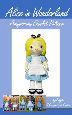 Alice in Wonderland Amigurumi Crochet Pattern