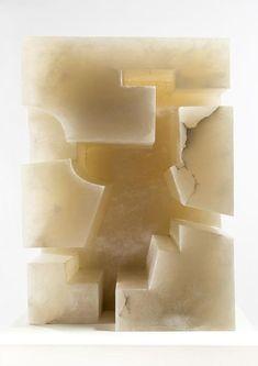 Eduardo Chillida, Homage to Architecture II, Sculpture, alabaster. Art Walk, Spanish Artists, Sketch Painting, Painted Paper, Brutalist, Installation Art, Art Installations, Architecture, Sculpture Art