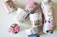 Arabia - pretty collection of muuminmugs R Palette, Moomin Mugs, Moomin Valley, Scandi Home, Nordic Design, Marimekko, Home Goods, Sweet Home, Design Inspiration