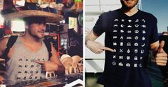 Traveller T-Shirt With 40 Icons Lets You Communicate In Any Country Even If You Don't Speak Its Language | Bored Panda
