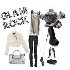Glam Rock. When wanting a slight rocker edge, think metallic colours,  layered tanks and juxtaposed textures like velvet, faux fur, sparkle and leather. Grrrr!