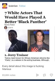 OKAY SO WE ALL KNOW WHY THIS POST SHOULD NOT EXIST BUT WAIT THE AUTHOR OF THE POST IS APPARENTLY JERRY TRAINOR, I CAN'T TELL IF THAT'S WORSE OR NOT