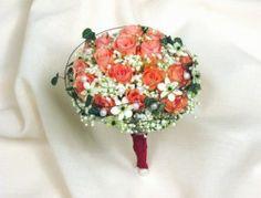 Svatební kytice. Kulatá kytice z růžových růží Floral, Flowers, Royal Icing Flowers, Flower, Flower, Florals, Blossoms