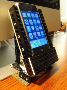Rotating LEGO Docks  that lets him rotate  iPhone to utilize both portrait and landscape settings.