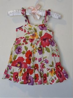 BABY GAP Girls Floral Dress With Bloomers 0-3 Months Floral EUC #babyGap #Everyday