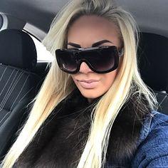 c18b324ae2 Buy BUKE 2018 Newest Women Sunglasses Square Glasses Vintage Big Frame Sun  Glasses Shades Gradient Sun glasses Woman Eyewear