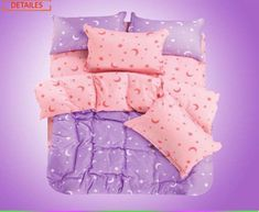 moon and star bedding| $37  kawaii pastel pastel goth mahou kei sailor moon fachin bedding bedroom home decor star moon space aliexpress i want this so bad omg wish