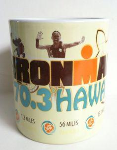 2012 Hawaii Ironman Bike Run Swim Race Honu Turtle Hawaiian Coffee Mug - Gift Idea