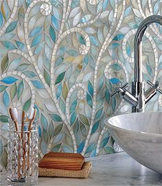 Indian-Inspired Mosaics Backsplash Gorgeous
