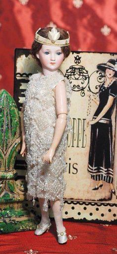 """1920s Flapper doll **""""I do hope no one notices my pregnancy.""""**"""