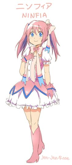 sylveon gijinka pokemon... Is it just me or does this girl look kind of like Madoka from Puella?