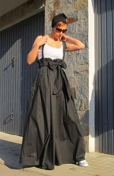 Black Skirt / Maxi Skirt / High Waist Skirt / Long Skirt /