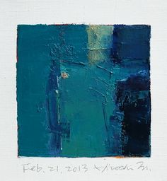 Feb. 21, 2013 - Original Abstract Oil Painting - 9x9 painting (9 x 9 cm - app. 4 x 4 inch) with 8 x 10 inch mat. $60.00, via Etsy.