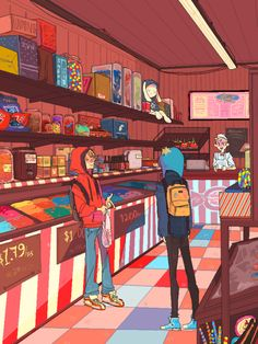 kenny in candy store