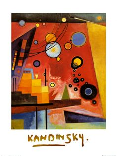 Heavy Red  Wassily Kandinsky