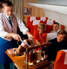 Meals served by airlines during the golden age of aviation