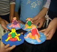 יצירה בחימר קל של משתתפת פורום יצירה לילדים אוראוה