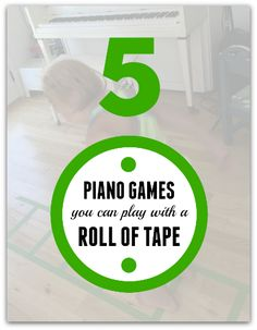 5 off-bench piano lesson games and all you need is a roll of tape! Piano Games, Piano Music, Music Games, Piano Lessons, Music Lessons, Piano Classes, Piano Recital, Piano Teaching, Learning Piano