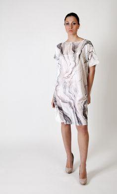 Handmade marble print dress.