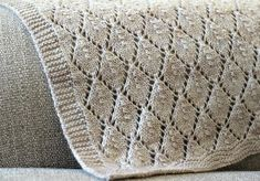 Ravelry: Beau Worsted Blanket pattern by Clare Webb Crochet Patterns For Beginners, Knitting Patterns Free, Free Knitting, Baby Knitting, Knitted Afghans, Knitted Baby Blankets, Baby Blanket Crochet, Knitting Abbreviations, Knitting Stitches