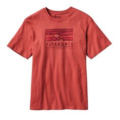 Patagonia - Men\'s Patagonia Sunset Cotton T-Shirt - Sumac Red SUMR