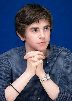 Freddie Highmore I sincerely hope he never sees this board I wouldn't want him to think I'm creepy or obsessive really I just think he seems like a nice boy I'd like to know.