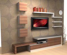 tv ünitesi plazma televizyon duvar yaşam üniteleri | AYYAPI Denizli