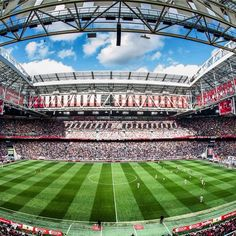 Amsterdam Arena holds 54,000 people and is the largest stadium in the Netherlands. This is one of the first stadiums in its region with a retractable roof, and has plenty of seats for all types of exciting events.