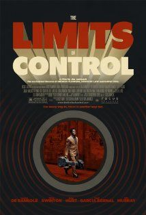 limits of control de Jarmusch, I love this man's obsession with coffe, its adorable, such a mystery of perfection, and the lines and colors are just him.