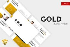Gold Business - Powerpoint by graptailtype on Envato Elements Powerpoint Maker, Powerpoint Themes, Microsoft Powerpoint, Business Powerpoint Presentation, Business Powerpoint Templates, Presentation Slides, Power Points, Powerpoint Modelos, Free Web Fonts