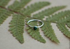 """Купить Кольцо """"Малахитовые Сказки"""", серебро, малахит - тёмно-зелёный, кольцо с камнем, кольцо с малахитом"""