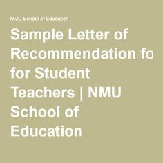Are You A Teacher Who Needs To Write A Letter Of Recommendation
